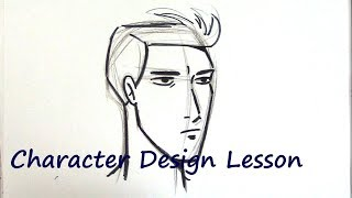 How to Draw a Man's Face - Tips & Tricks (Character Design)