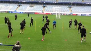 Malmo FF before game against FC Shakhtar