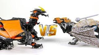 Transformers 5 TLK Leader DragonStorm VS Beast Hunter Leader Predaking Dragon Robot Toys