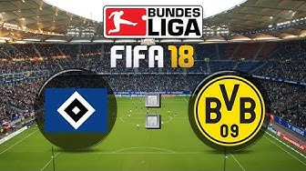 FIFA 18 Bundesliga Hamburger SV : Borussia Dortmund | Gameplay Deutsch Livestream