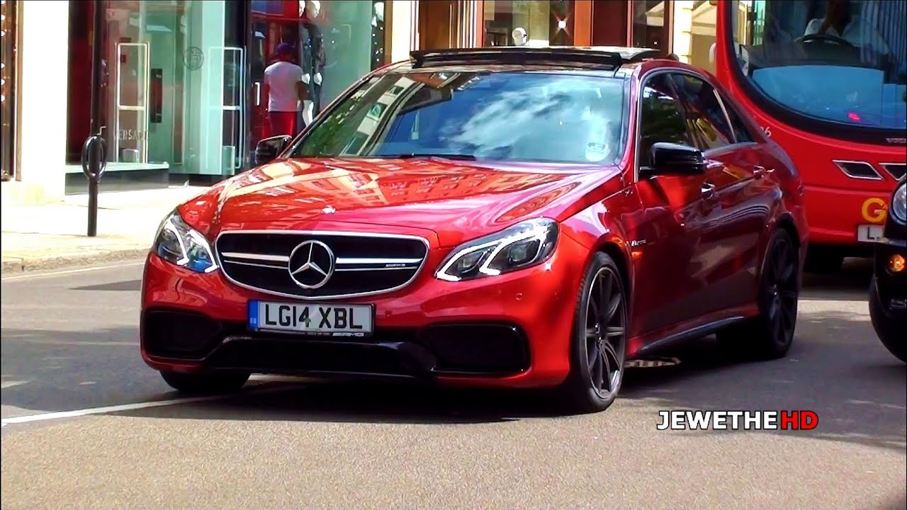 Red 2013 Mercedes Benz E63 Amg In London Exhaust Sounds
