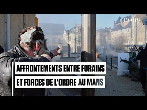 Au Mans, la manifestation des forains dégénère en affrontements avec la police