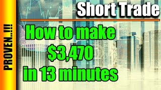 News Trading - $3,470 in 13 min using only Trailing Stop Loss