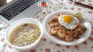 (ENG)Vlog: Homebody's Days of Homecooking, No Delivery Food for a Week (Kujirai Ramyun, Mala Gambas)