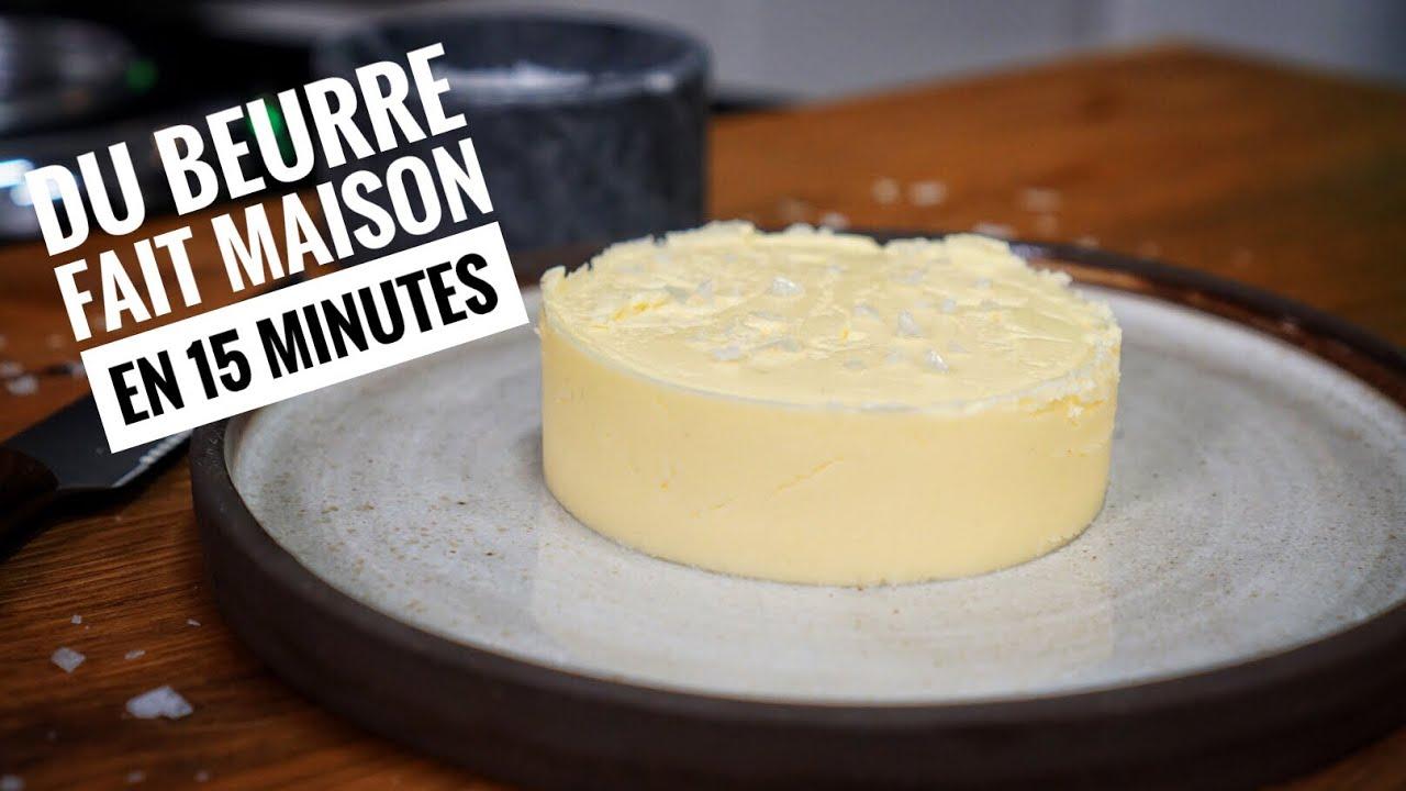 DIY : Comment FAIRE SON BEURRE maison 😬 Astuce cuisine - YouTube