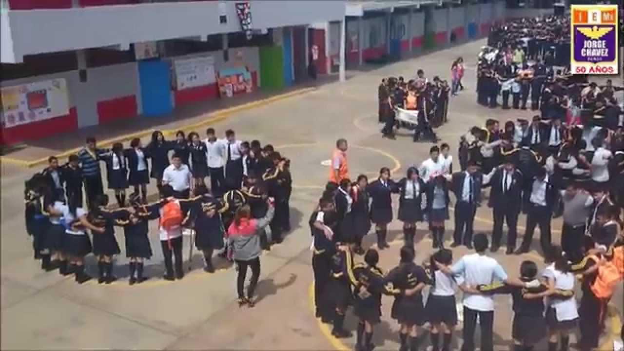 Simulacro escolar de sismo etapas evacuaci n reporte coe for Memoria descriptiva de un colegio