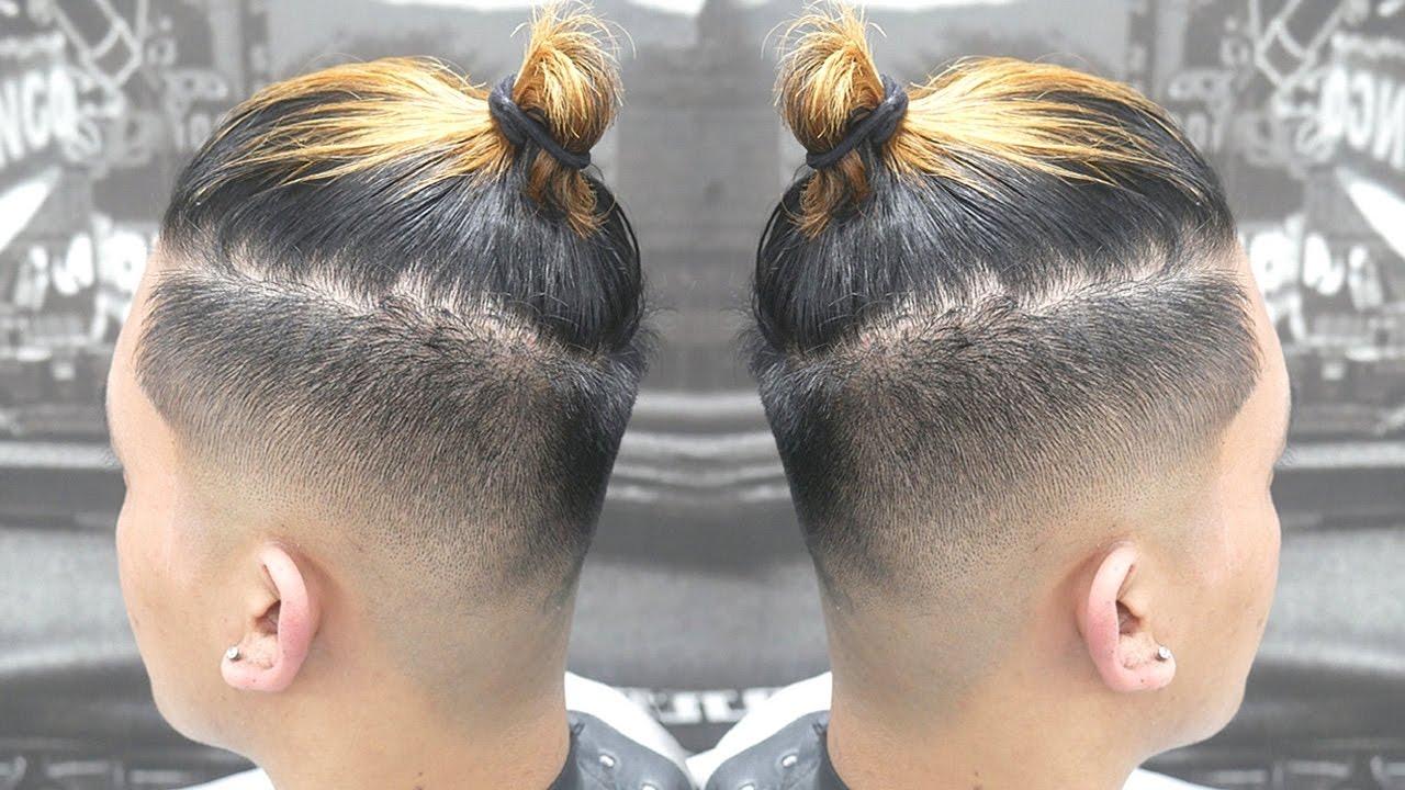 man bun haircut tutorial