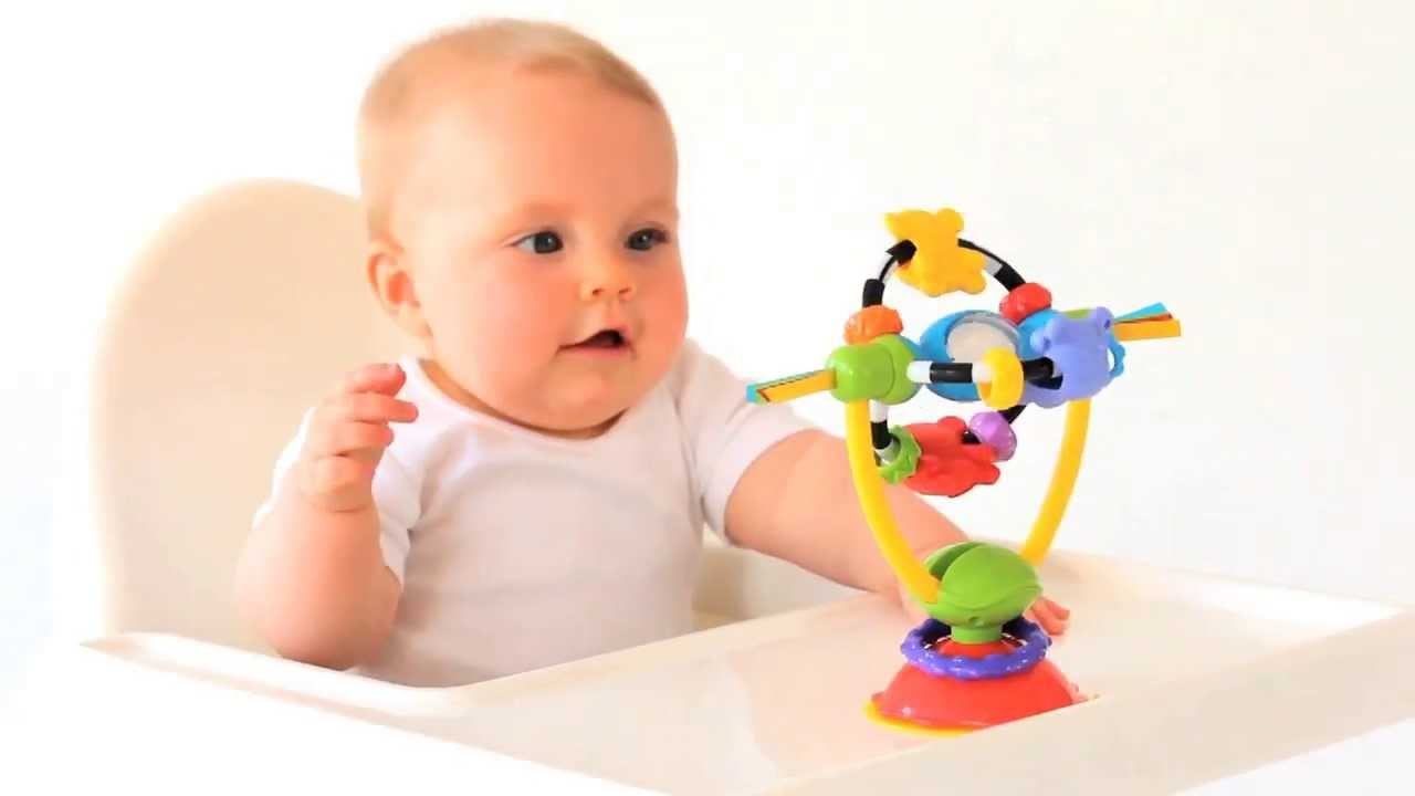 Playgro - High Chair Spinning Toy - YouTube