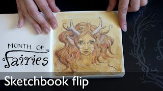 Sketchbook flip: Month Of Fairies