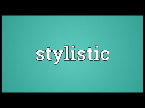 Stylistic Meaning
