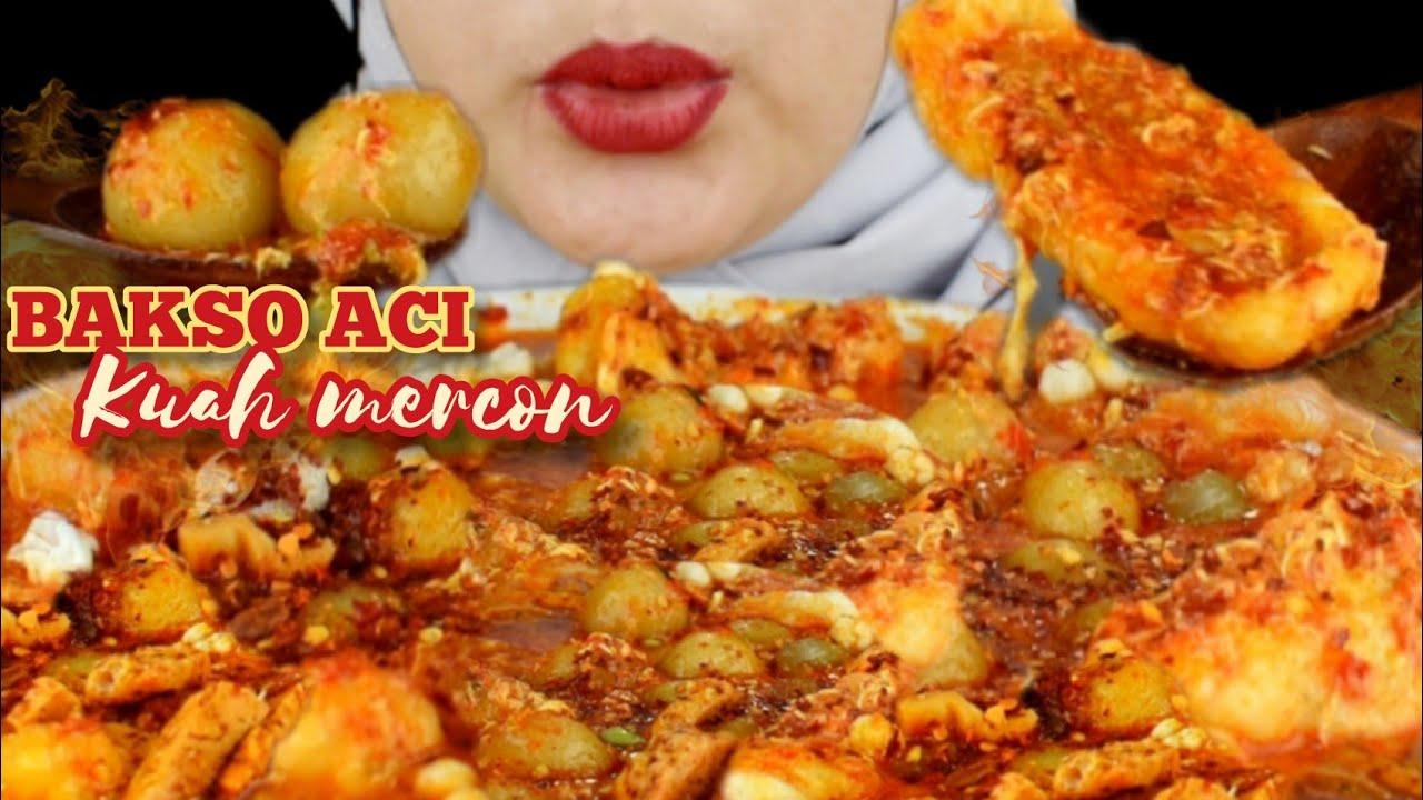 ASMR BAKSO ACI KUAH MERCON || PEDESNYA PARAH 😵😵😵😵😵||@nyakrekbaksoaci || asmr indonesia