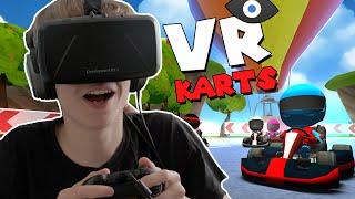 VR Karts with the Oculus Rift: DK2 - IMPRESSIVE RACING GAME!