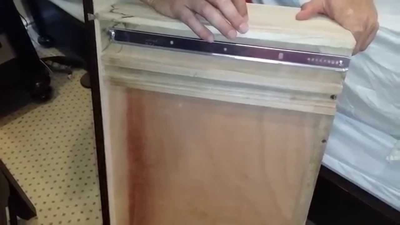 Dresser Drawer Repair, Installing Under-Mount Drawer Slides. - YouTube