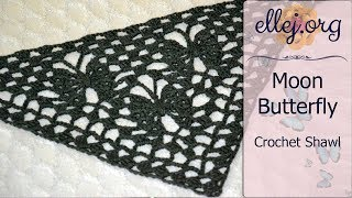 How to Crochet Moon Butterfly Crochet Shawl • Free Step by Step Crochet Tutorial