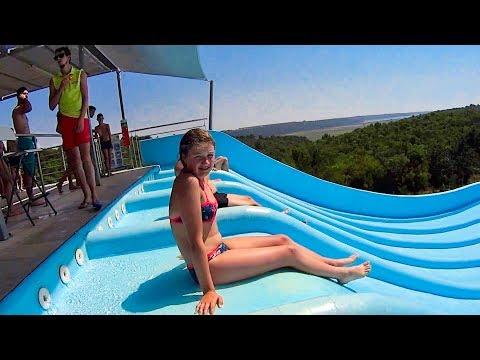 Crazy Hills Water Slide at Aquapark Istralandia