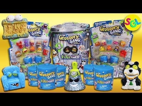 Grossery Gang Series 3 Putrid Power Super Sized, Mega 12 Pack, Surprise Blind Bag 2 Pack Trash Cans