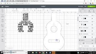 Cricut Design Space Lyric Guitar