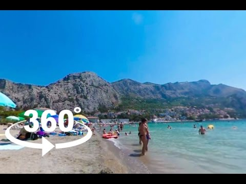 TOWN BEACH — OMIŠ | 360º VR | Pointers Travel