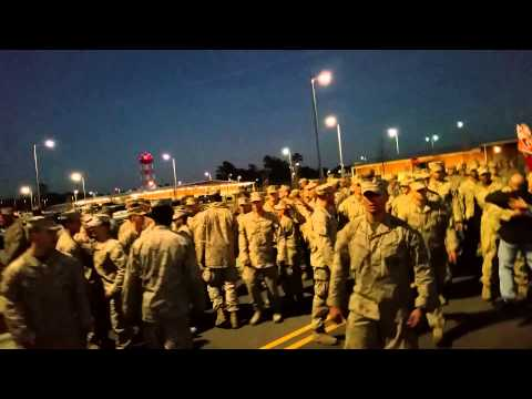 USMC Marines 1/2 Weapons Company Homecoming From Afghanistan November 7, 2014