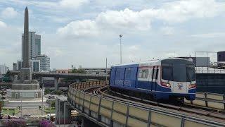 BTSスクンビット線戦勝記念塔駅到着 Bangkok Skytrain Sukhumvit Line Victory Monument Station