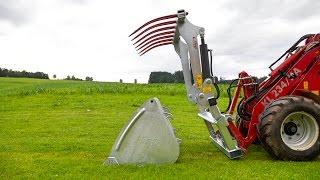 Fliegl Agro-Center im Einsatz   Silogreifadapter hydraulisch