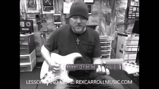 STEVIE RAY VAUGHAN TEXAS FLOOD | GUITAR LESSON | REX CARROLL