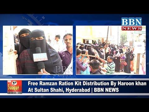 Free Ramzan Ration Kit Distribution By Haroon khan At Sultan Shahi, Hyderabad | BBN NEWS