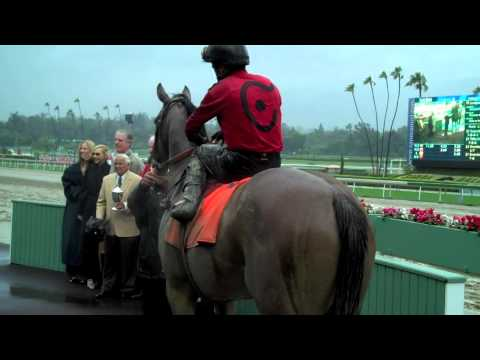 T. R. Bell, II and Rafael Bejarano after Juniper Pass wins the San Luis Rey Stakes (Gr. II)