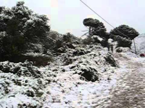 Neu a la Serralada Litoral  Febrer 2013