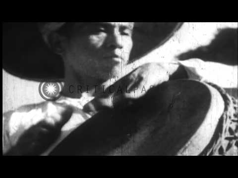 Natives celebrate their restoration under Japanese occupation in Burma during the...HD Stock Footage