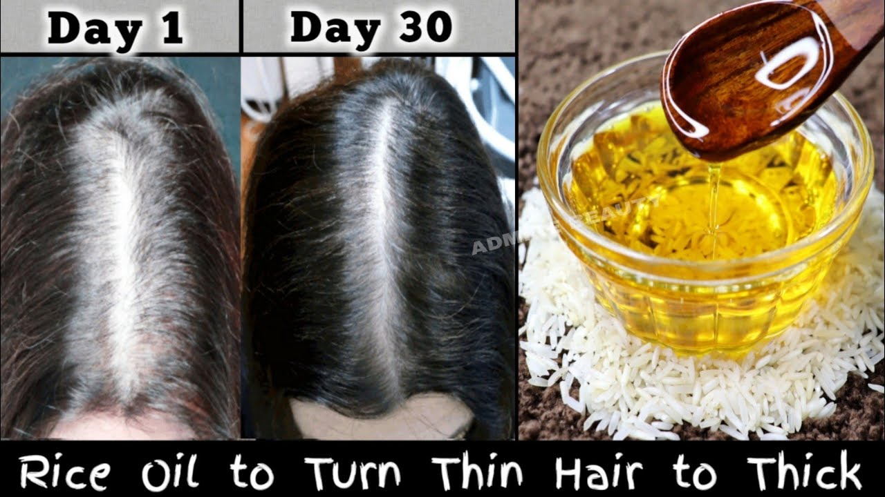 Apply Rice Hair Oil & Turn Thin Hair to Thick Hair - Double Hair Growth & Long Hair with Rice Water
