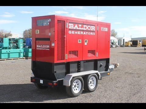 100 kW Baldor Diesel Generator Set Unit 87429