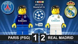 Paris Saint-Germain PSG vs Real Madrid 1-2 • Champions League 2018 (06/03/2018) Goals Lego Football