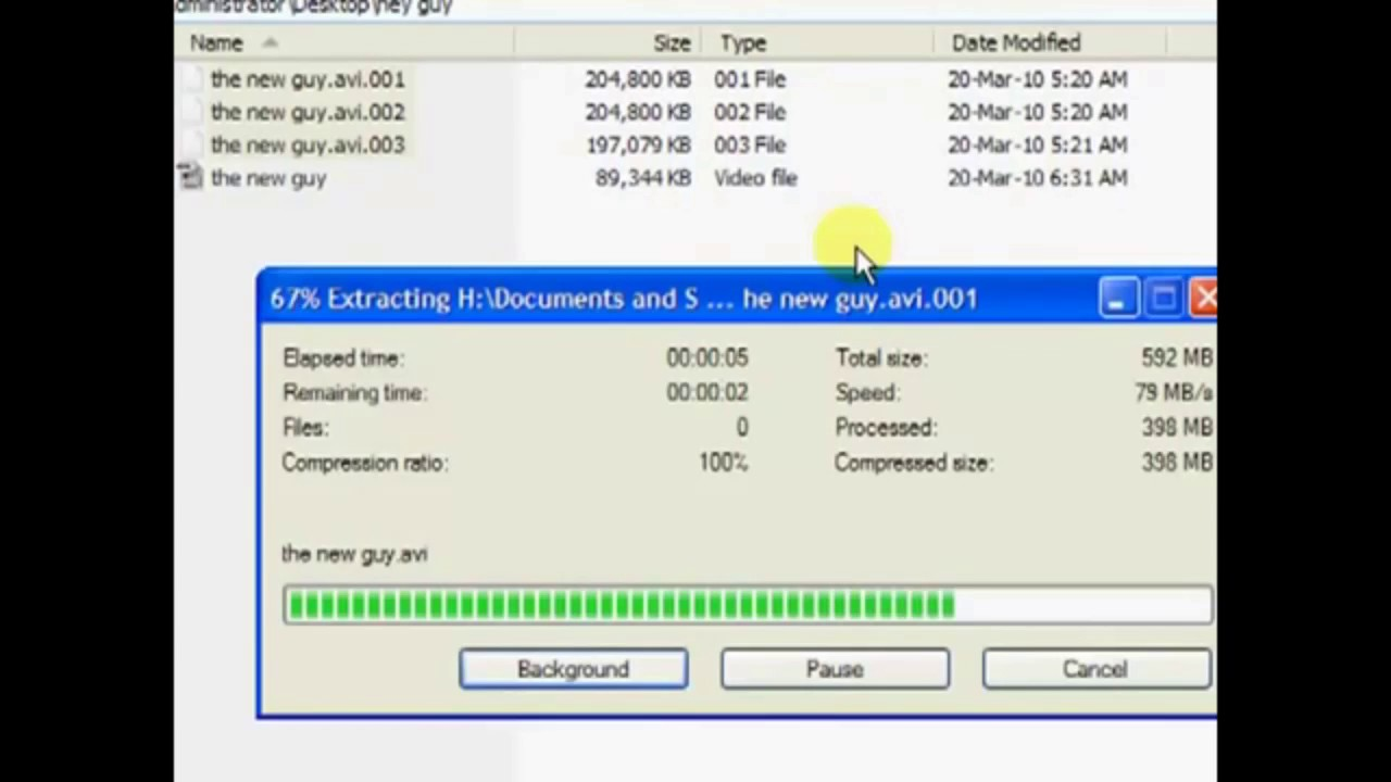 How To Join Files With 7Zip