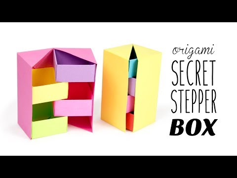 Origami Secret Stepper Box Tutorial - DIY - Paper Kawaii