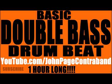 HOUR LONG Double Bass Drum Beat Practice Track Drums Only
