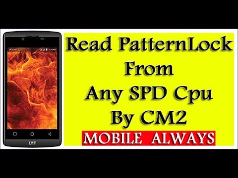 Read PatternLock   From any SPD Cpu   By CM2
