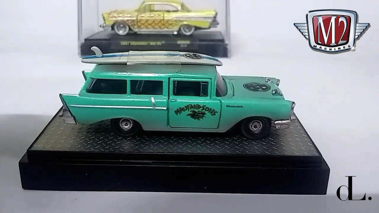 1957 57 CHEVY CHEVROLET 150 HANDYMAN STATION WAGON 1:64 SCALE DIECAST MODEL CAR