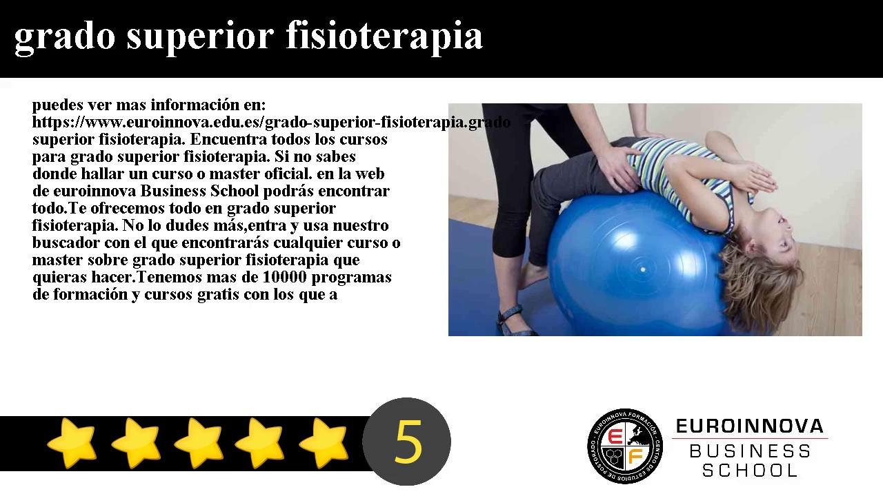Grado Superior Fisioterapia Web Oficial Euroinnova