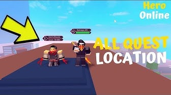 All Quest Location And Levels Required For Them In *Hosu City*|Hero Online|Roblox