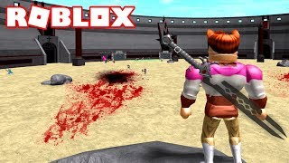 fighting to death of gladiators in ROBLOX 😈