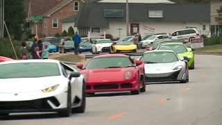 Thousands of sports cars lead boy's funeral procession