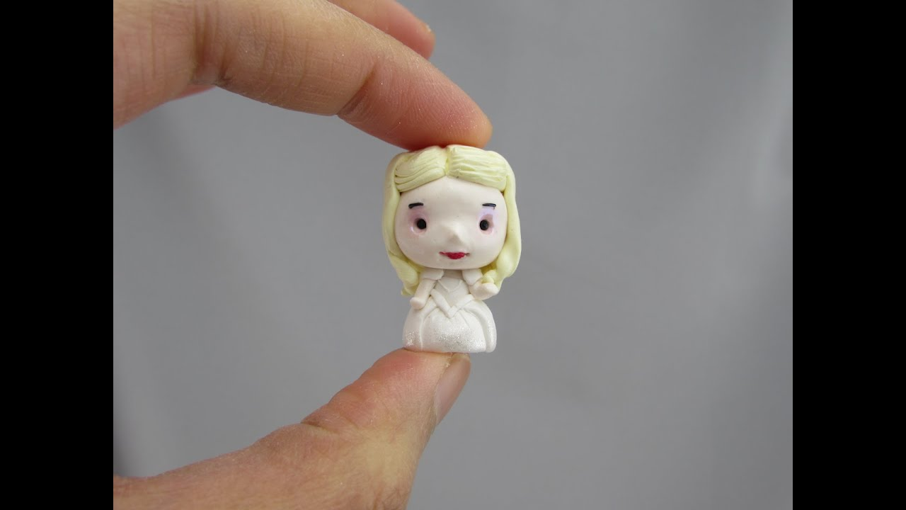 White queen chibi polymer clay tutorial youtube white queen chibi polymer clay tutorial baditri Images