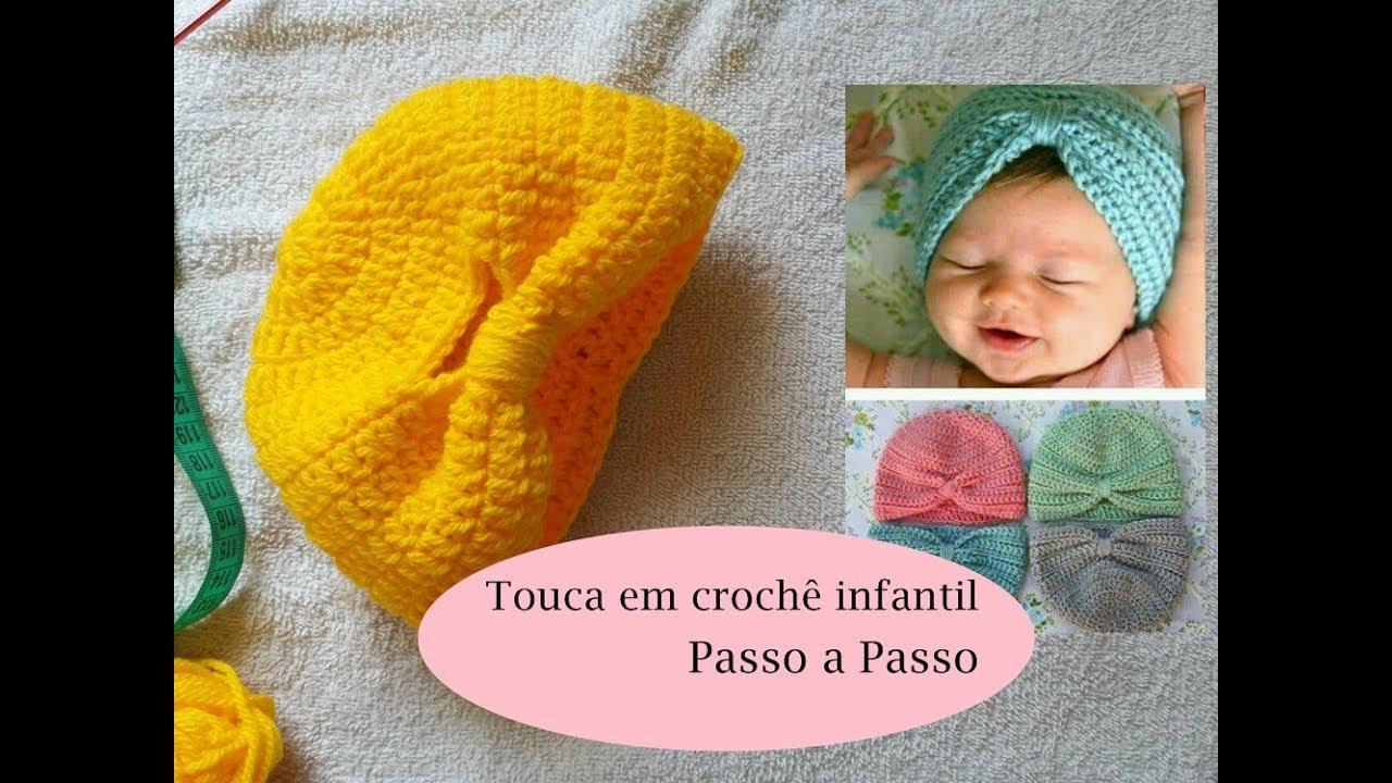 Touca em crochê infantil fácil - passo a passo - YouTube 4e784b628bc