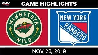 NHL Highlights   Wild vs Rangers – Nov. 25, 2019