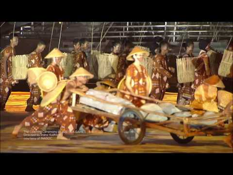 The Opening Ceremony 2011 SEA GAMES INDONESIA part 1 (prelude & Musi The Heart of the City)
