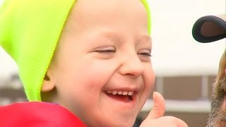 5-Year-Old Boy Welcomed Home After 18 Months In Hospital Fighting Cancer