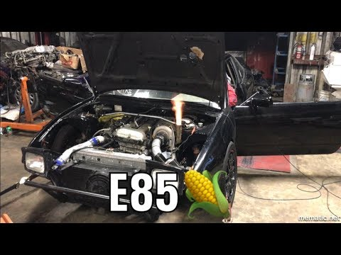 Big Turbo SR20 240SX Tuned On E85!