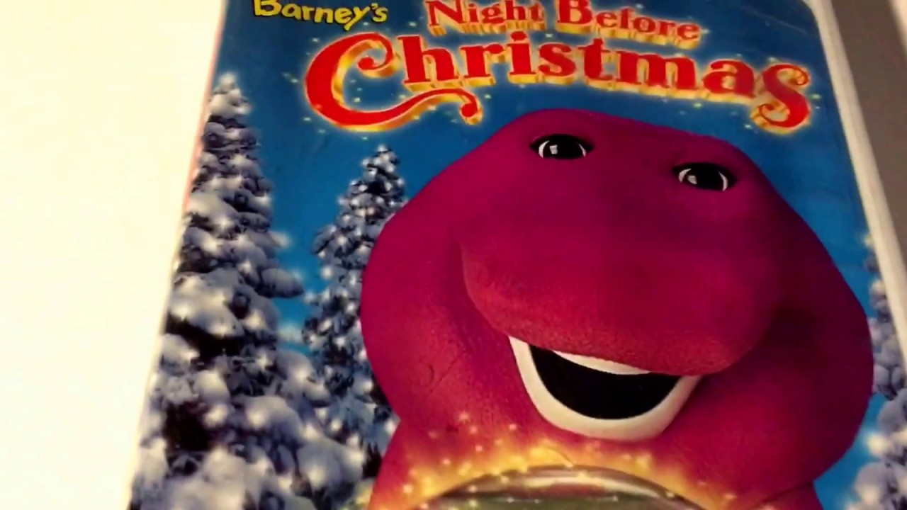 Barney * Night Before Christmas * VHS Movie Collection - YouTube