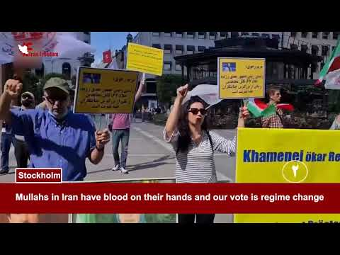 PMOI/MEK supporters rally in Vienna &… against the Iranian regime sham presidential election
